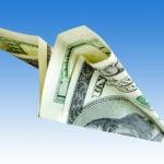money paper airplane