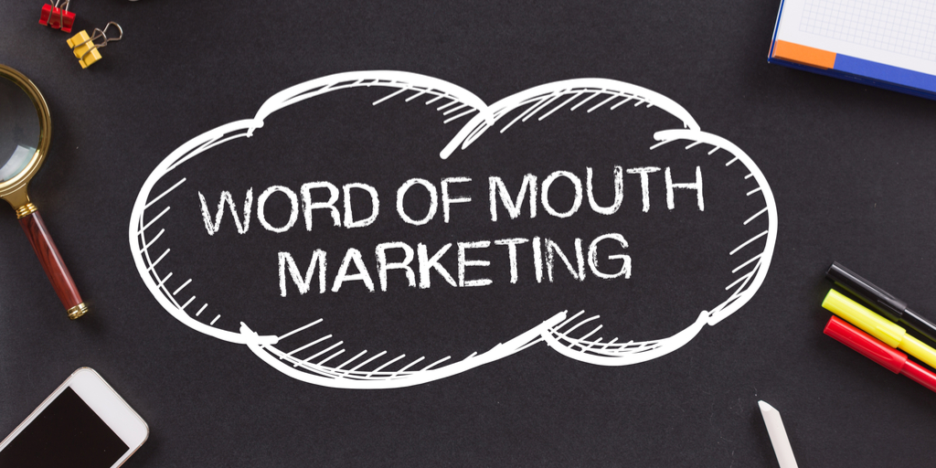 Word-of-mouth marketing concept.