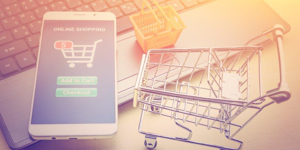 Virtual shopping cart for e-commerce.