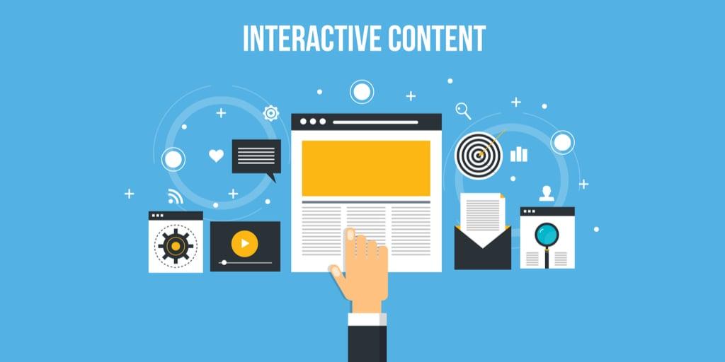 Interactive content concept.