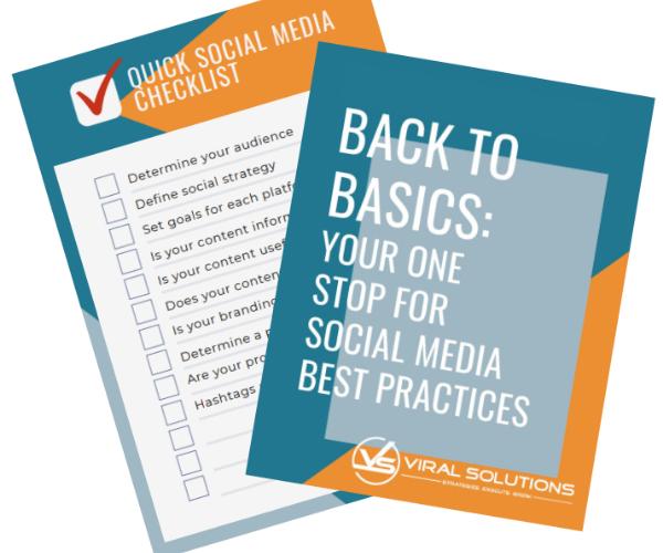 Social Media Checklist Snapshot: Back To Basics