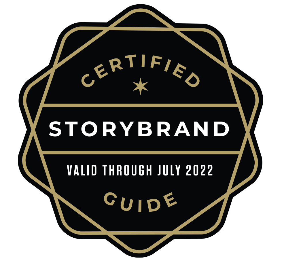 Certified StoryBrand Guide Badge - valid through July 2022